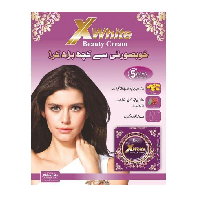 X White Beauty Cream 5 Days Fairness Plan