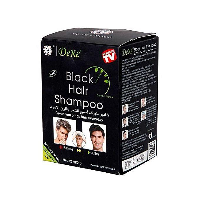Dexe Black Hair Shampoo for Men